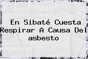 En Sibaté Cuesta Respirar A Causa Del <b>asbesto</b>