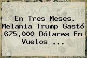 En Tres Meses, <b>Melania Trump</b> Gastó 675.000 Dólares En Vuelos ...