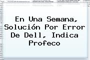 En Una Semana, Solución Por Error De <b>Dell</b>, Indica Profeco
