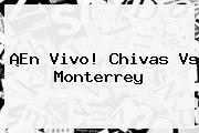 ¡En Vivo! <b>Chivas Vs Monterrey</b>