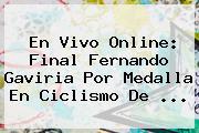En Vivo Online: Final <b>Fernando Gaviria</b> Por Medalla En Ciclismo De ...