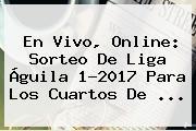 En Vivo, Online: <b>Sorteo</b> De <b>Liga Águila</b> 1-2017 Para Los Cuartos De ...