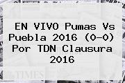 EN VIVO <b>Pumas Vs Puebla</b> 2016 (0-0) Por TDN Clausura 2016