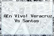 ¡En Vivo! <b>Veracruz Vs Santos</b>