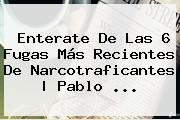 Enterate De Las 6 Fugas Más Recientes De Narcotraficantes   <b>Pablo</b> <b>...</b>