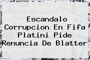 <b>Escandalo</b> Corrupcion En <b>Fifa</b> Platini Pide Renuncia De Blatter