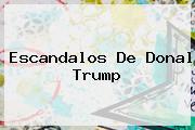 Escandalos De <b>Donal Trump</b>