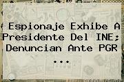 Espionaje Exhibe A Presidente Del INE; Denuncian Ante PGR <b>...</b>