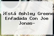 ¿Está <b>Ashley Greene</b> Enfadada Con Joe Jonas?
