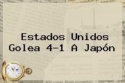Estados Unidos Golea 4-1 A Japón