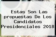 Estas Son Las <b>propuestas</b> De Los Candidatos Presidenciales 2018