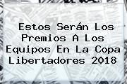 Estos Serán Los Premios A Los Equipos En La <b>Copa Libertadores 2018</b>