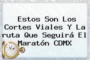 Estos Son Los Cortes Viales Y La <b>ruta</b> Que Seguirá El <b>Maratón</b> CDMX