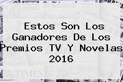 Estos Son Los Ganadores De Los Premios <b>TV Y Novelas 2016</b>