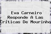 <b>Eva Carneiro</b> Responde A Las Críticas De Mourinho