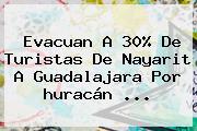 Evacuan A 30% De Turistas De Nayarit A Guadalajara Por Huracán <b>...</b>