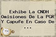 Exhibe La CNDH Omisiones De La PGR Y <b>Capufe</b> En Caso De ...
