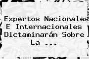 Expertos Nacionales E Internacionales Dictaminarán Sobre La ...