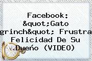 Facebook: &quot;Gato <b>grinch</b>&quot; Frustra Felicidad De Su Dueño (VIDEO)