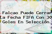Falcao Puede Cerrar La Fecha FIFA Con 30 Goles En <b>Selección</b>