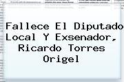 Fallece El Diputado Local Y Exsenador, <b>Ricardo Torres Origel</b>