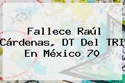 Fallece <b>Raúl Cárdenas</b>, DT Del TRI En México 70