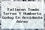 Fallecen Tomás Torres Y <b>Humberto Godoy</b> En Accidente Aéreo