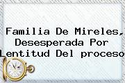 Familia De Mireles, Desesperada Por Lentitud Del <b>proceso</b>