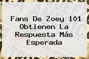 Fans De <b>Zoey 101</b> Obtienen La Respuesta Más Esperada