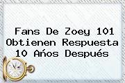 Fans De <b>Zoey 101</b> Obtienen Respuesta 10 Años Después