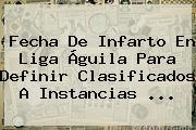 Fecha De Infarto En <b>Liga Águila</b> Para Definir Clasificados A Instancias ...