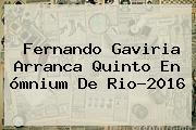 Fernando Gaviria Arranca Quinto En <b>ómnium</b> De Rio-2016