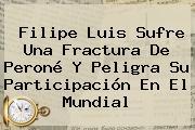 <b>Filipe Luis</b> Sufre Una Fractura De Peroné Y Peligra Su Participación En El Mundial
