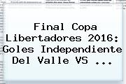Final Copa Libertadores 2016: Goles <b>Independiente Del Valle VS</b> ...