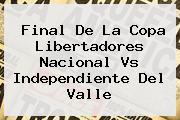 Final De La Copa Libertadores <b>Nacional Vs Independiente Del Valle</b>