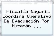 Fiscalía <b>Nayarit</b> Coordina Operativo De Evacuación Por Huracán <b>...</b>