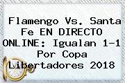 Flamengo Vs. Santa Fe EN DIRECTO ONLINE: Igualan 1-1 Por <b>Copa Libertadores 2018</b>