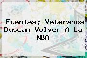 <b>Fuentes: Veteranos Buscan Volver A La NBA</b>