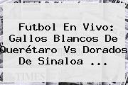Futbol En Vivo: Gallos Blancos De <b>Querétaro Vs Dorados</b> De Sinaloa <b>...</b>