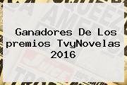 Ganadores De Los <b>premios TvyNovelas</b> 2016