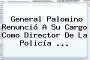 <b>General Palomino</b> Renunció A Su Cargo Como Director De La Policía <b>...</b>
