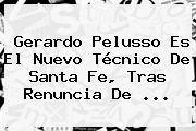 <b>Gerardo Pelusso</b> Es El Nuevo Técnico De Santa Fe, Tras Renuncia De <b>...</b>