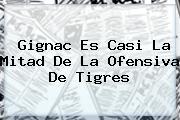 Gignac Es Casi La Mitad De La Ofensiva De <b>Tigres</b>