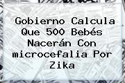 Gobierno Calcula Que 500 Bebés Nacerán Con <b>microcefalia</b> Por Zika