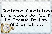 Gobierno Condiciona El <b>proceso</b> De Paz A La Tregua De Las FARC :: El <b>...</b>