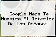 Google <b>Maps</b> Te Muestra El Interior De Los Océanos