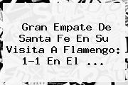 Gran Empate De <b>Santa Fe</b> En Su Visita A Flamengo: 1-1 En El ...