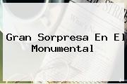 <b>Gran Sorpresa En El Monumental</b>