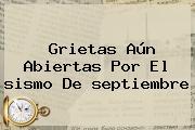Grietas Aún Abiertas Por El <b>sismo</b> De <b>septiembre</b>