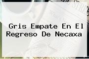 Gris Empate En El Regreso De <b>Necaxa</b>